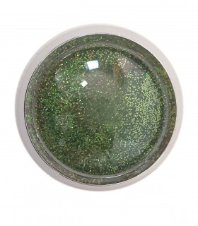 دیزاین ناخن اکلیل سبز چمنی