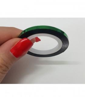 نوار طراحی متوسط ناخن سبز۱
