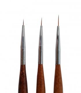 ست قلم طراحی 3 عددی چوبی