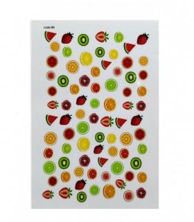 لنز ناخن مدل میوه 2