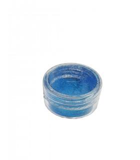 پودر کروم ناخن هولوگرام آبی تیره