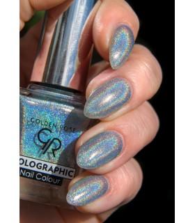 لاک ناخن گلدن رز مدل Holographic شماره 06 روی دست