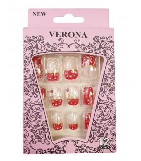 ناخن مصنوعی ژله ای بزرگسال Verona طرح نگین دار شماره 2