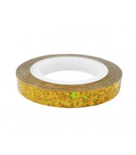 نوار طراحی ناخن پهن زیگزاگ طلایی