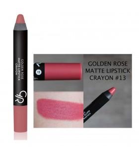 رژ لب مدادی مات گلدن رز Matte Crayon شماره 13 جدا