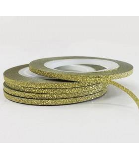 نوار طراحی ناخن طلایی اکلیلی 2mm  چندتایی