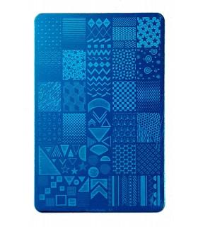 شابلون فلزی ناخن بزرگ شماره XiuYa Nails 01 بی دست