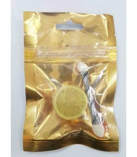 پودر کروم ناخن طلایی با پد
