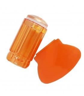 مهر ناخن (استمپ) رنگ نارنجی