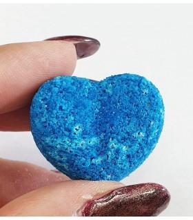 کوکتل مانیکور قلبی آبی با دست