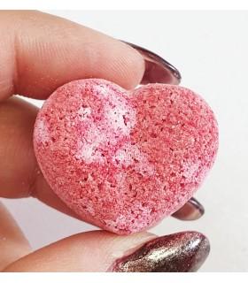کوکتل مانیکور قلبی صورتی با دست