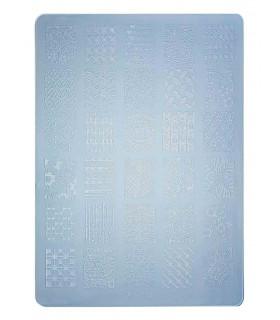 شابلون پلاستیکی ناخن متوسط شماره F13 آبی