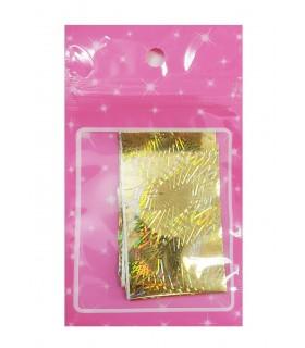 فویل طراحی ناخن طلایی هفت رنگ