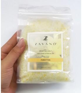 نمک دریایی ZAVANO عصاره گل فورسیتیا با دست