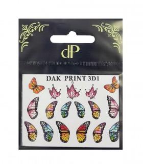 لنز ناخن روسی Dak Print مدل پروانه