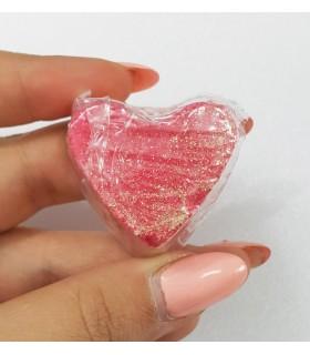 کوکتل مانیکور قلب صورتی با دست