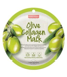 خرید ماسک نقابی کلاژنه صورت Purederm پیوردرم با عصاره زیتون - 1 ورق