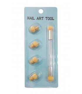 قلم آمبره طراحی ناخن سفید
