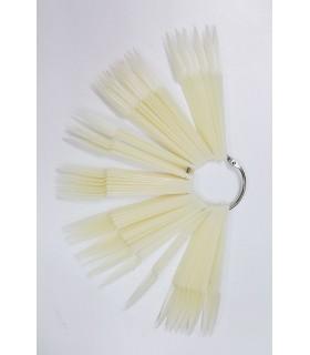 پالت طراحی ناخن سوییچی مدل تیز سفید کلی