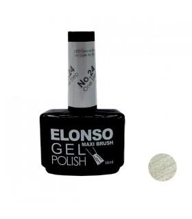 لاک ژل ناخن تک مرحله ای الونسو Elonso شماره 24