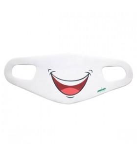 ماسک پارچه ای ضخیم ویسکوز دو عددی طرح لبخند مانیما