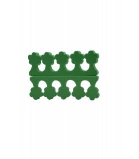 پد جداکننده انگشتان پا رنگ سبز