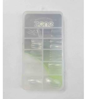 ناخن مصنوعی ۱۰۰ عددی Z.one مدل چهارگوش شیشه ای پشت