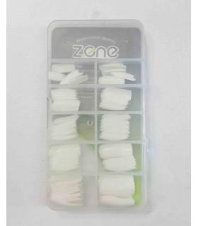 ناخن مصنوعی ۱۰۰ عددی Z.one مدل چهارگوش سفید پشت