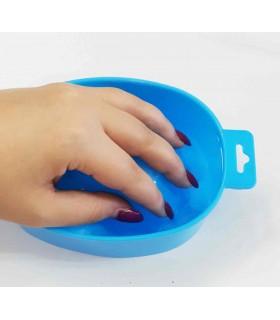 ظرف مانیکور آبی دست