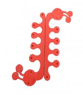 پد جداکننده انگشتان پا طرح حلزون گلبهی