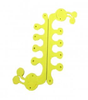 پد جداکننده انگشتان پا طرح حلزون زرد