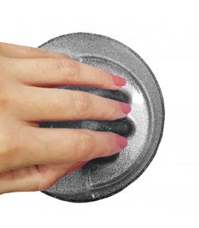ظرف مانیکور مشکی اکلیلی دست