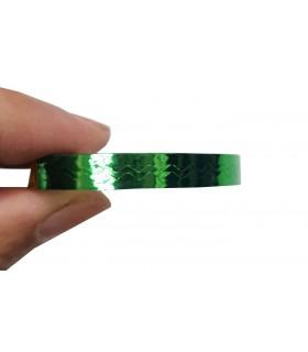 نوار طراحی ناخن پهن زیگزاگ سبز دست