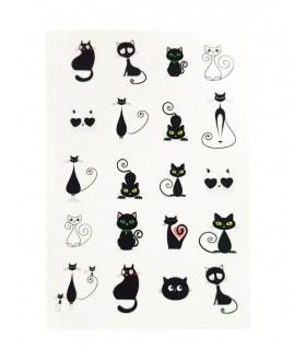 لنز ناخن مدل گربه سیاه