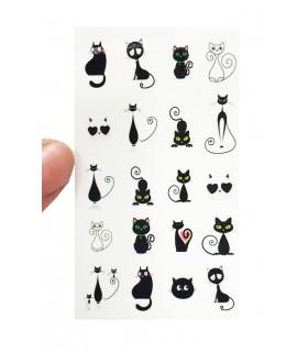 لنز ناخن مدل گربه سیاه دست