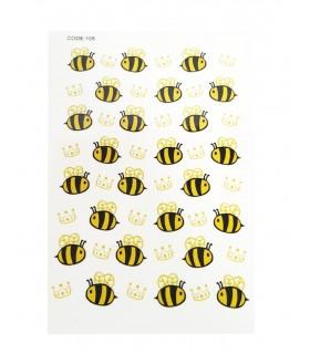 لنز ناخن مدل زنبور