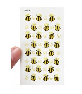 لنز ناخن مدل زنبور دست