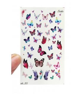 لنز ناخن مدل پروانه دست