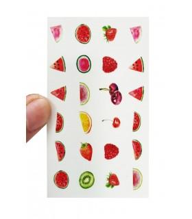 لنز ناخن مدل میوه دست