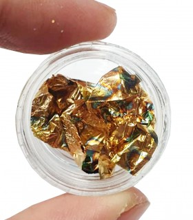 فویل طراحی ناخن طلایی سوخته تکه ای دست