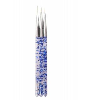 ست قلم طراحی 3 عددی آبی
