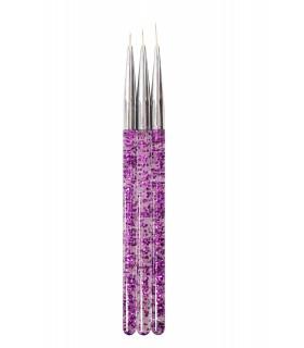 ست قلم طراحی 3 عددی بنفش