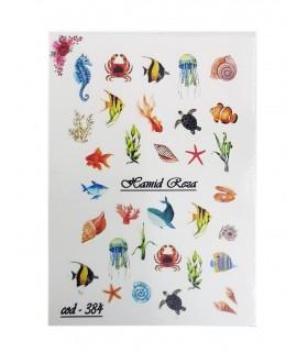 لنز ناخن مدل حیوانات دریایی