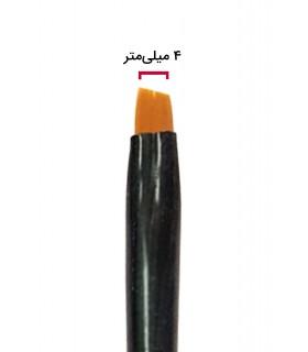 قلم طراحی ناخن سر کج شماره ۴ نزدیک
