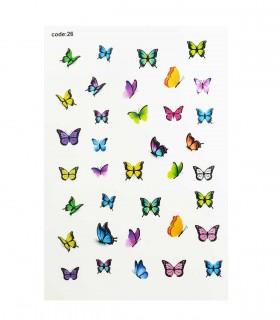 لنز ناخن مدل طرح پروانه 2