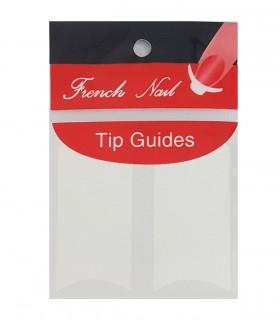 برچسب فرنچ ناخن Tip Guide مدل هلالی پهن