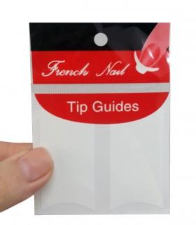برچسب فرنچ ناخن Tip Guide مدل هلالی پهن اندازه