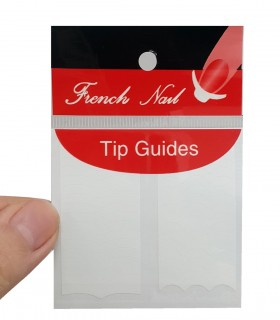 برچسب فرنچ ناخن Tip Guide مدل هلالی موج دار