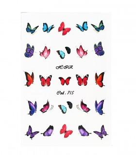 لنز ناخن مدل پروانه 3