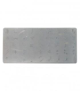 شابلون پلاستیکی ناخن متوسط شماره T-04